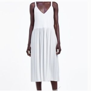 Zara flowing pleated dress
